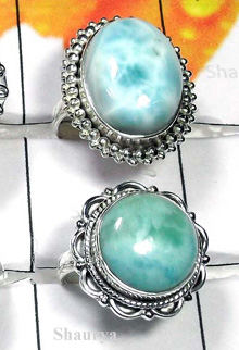 W2CBR993-700 gm-Natural Larimar Cabochon Rings