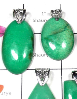 W2DP955-250 gm-Chrysoprase Gemstone Drilled  Wholesale Pendants