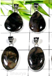 W2GMA999-250 gm- Moss Agate Gemstone 925 Silver Pendants