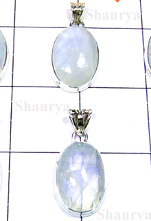 W2GRM998-250 gm-Creative Design Silver Rainbow Moonstone Pendants