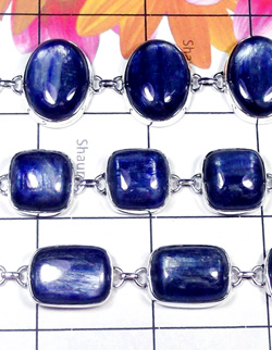 W2KYT999-250 gm-Kyanite Gemstone 925 Silver Bracelets