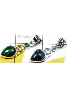 W2LCP949-10 Pcs- Semiprecious Gemstone Silver Pendants