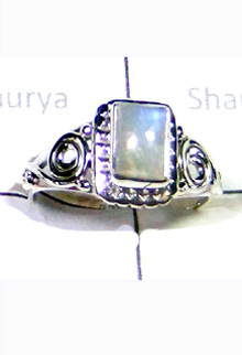 W2LCR996-Beautiful Multi Designe Cab Rainbow Moonstone Rings-10 Pcs