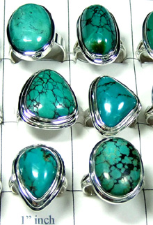 W2MT995-250 gm-Natural Turquoise Stone Rings
