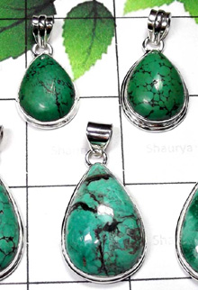 W2MT998-250 gm-Beautiful Turquoise Stone Free Size Pendants