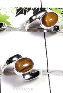 W2SCR985-300 gm-Gorgeous Cab Stone Rings With Tiger Eye