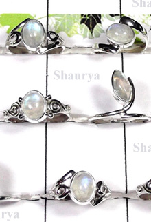 W2SCR997-300 gm-Natural Rainbow Moonstone Rings