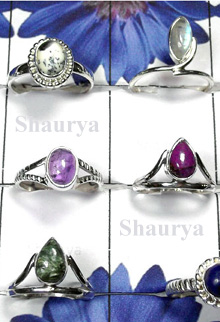 W2SCR999-300 gm-Lovely Mix Cab Stone Rings
