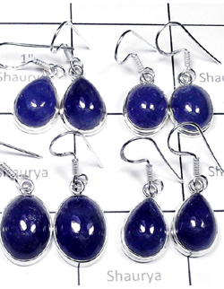 W2TNZ998-250 gm- Wholesale Silver Tanzanite Earrings