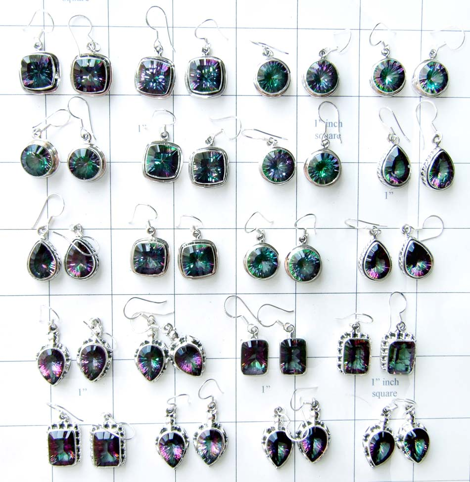 Mystic quartz Earrings Lot-WLJSE001