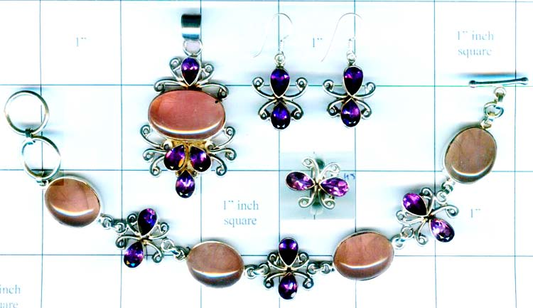 Wholesale silver gems Set-edbset006