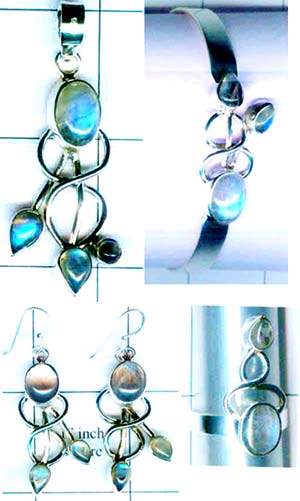 Wholesale silver gems Set-edbset009