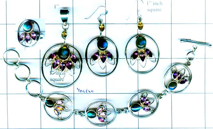 Wholesale silver gems Set-edbset014
