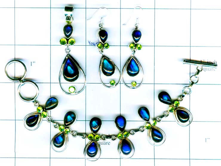 Wholesale silver gems Set-edbset049