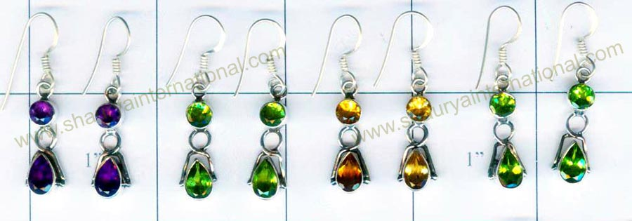 Sterling silver 4 Pairs Earrings-jye027