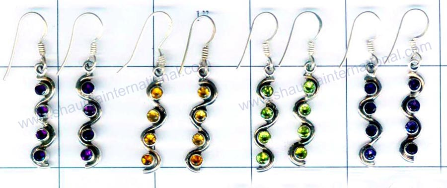 Sterling silver 4 Pair Earrings-jye030