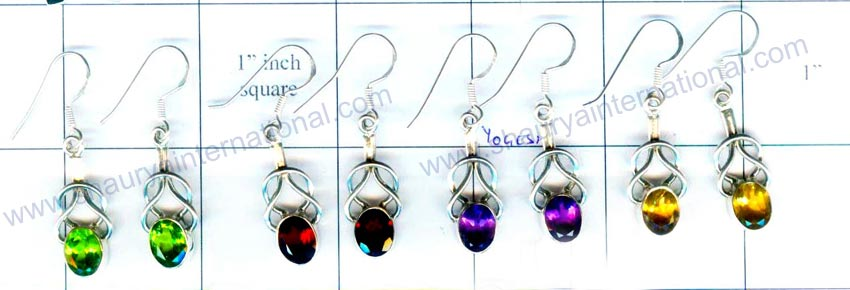 wholesale Silver 4 Pair Earrings-jye031