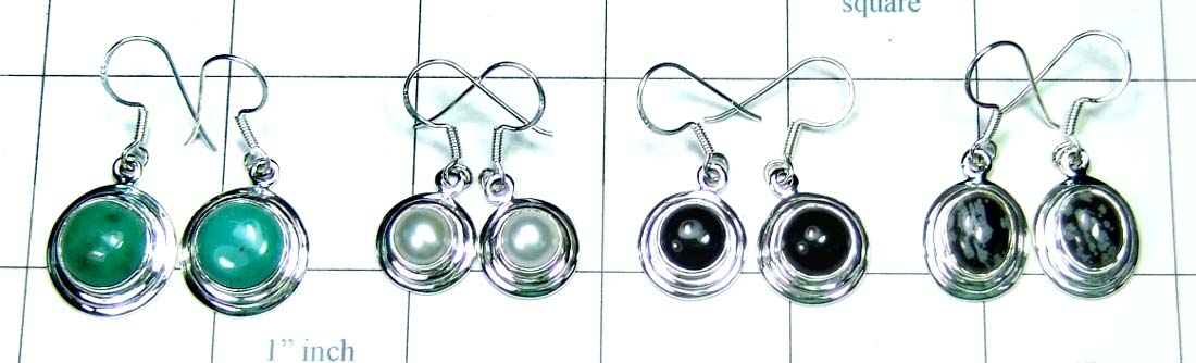 Sterling silver Earrings-4pcs-jye063