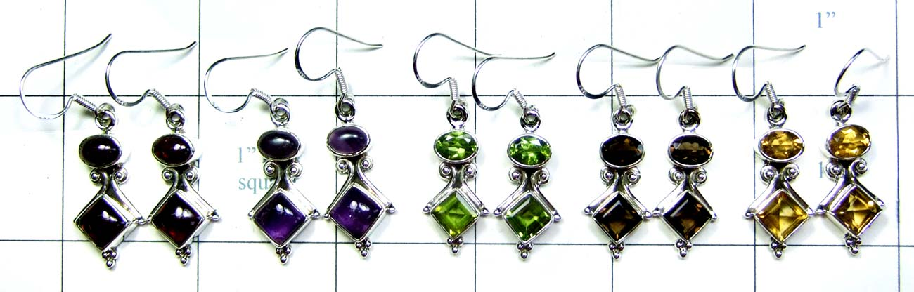 Beautiful silver Earrings 5 Pcs-jye069