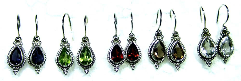 Sterling silver gems Earrings-jye073
