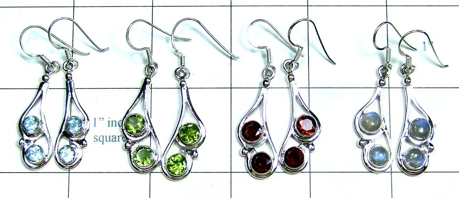 Wholesale silver gems Earrings-jye102