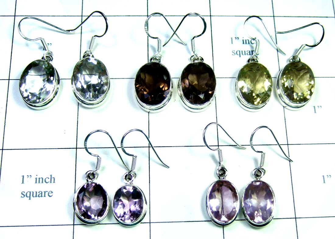 Wholesale silver gems Earrings-jye105
