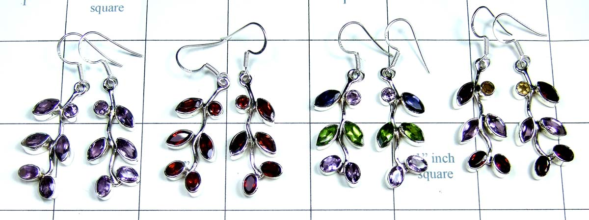 Wholesale silver gems Earrings-jye112
