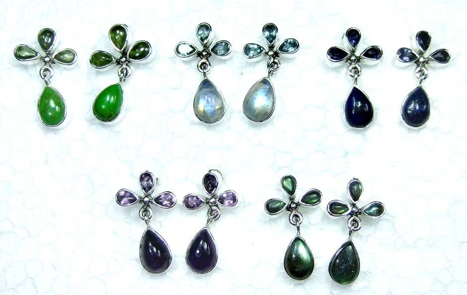 5 Pair Cut & Cab Earrings-jye127