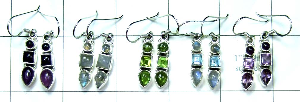 5 Pair Cut & Cab Earrings-jye143