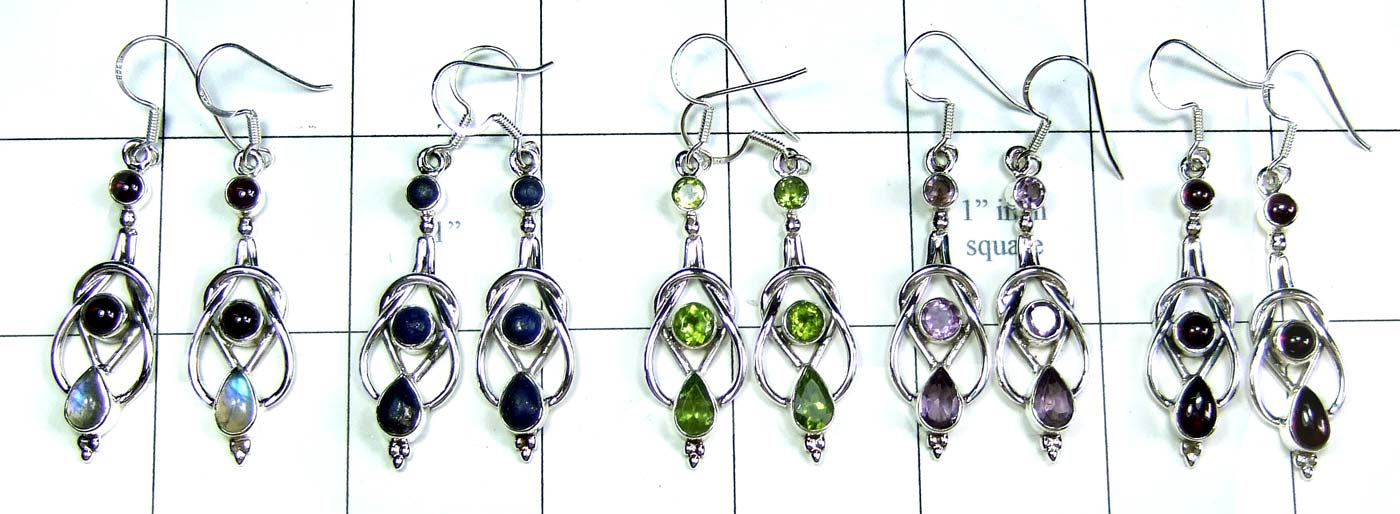 5 Pair Cut & Cab Earrings-jye146