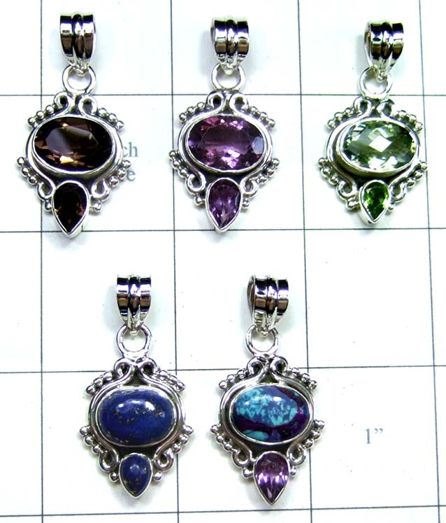 Handicraft silver gems Pendants-jyp215