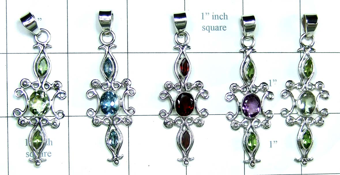 Classic Sterling silver Pendants-jyp277