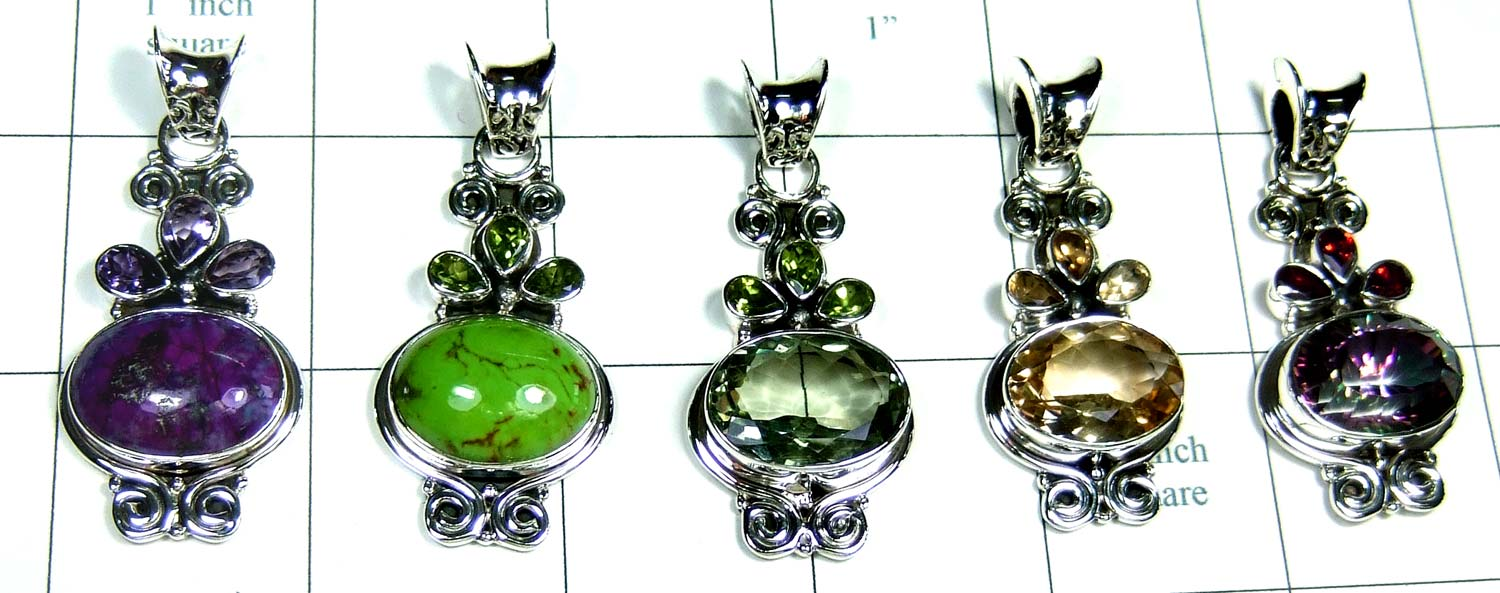 5 Cut Cab Pendants-jyp324