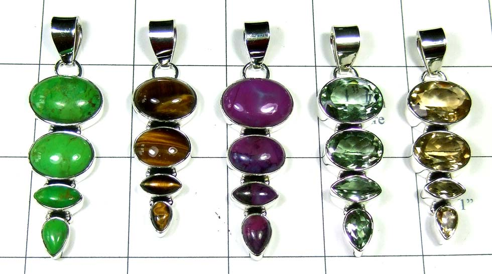 5 Cut Cab Pendants-jyp343