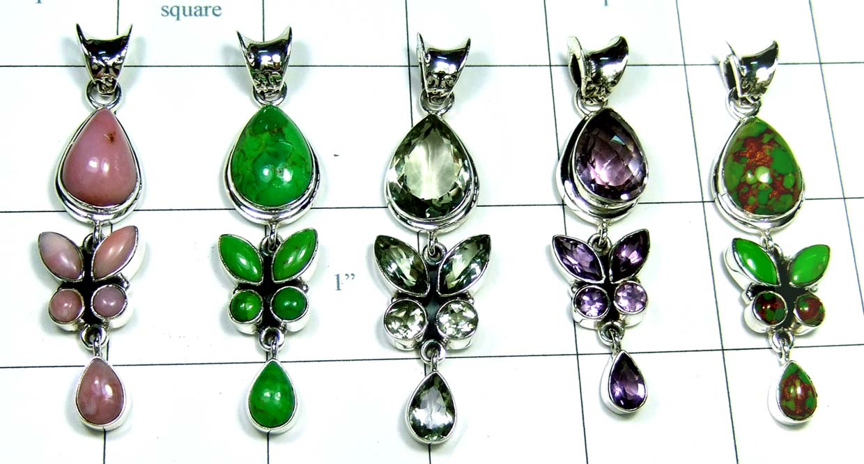 5 Cut Cab Pendants-jyp354