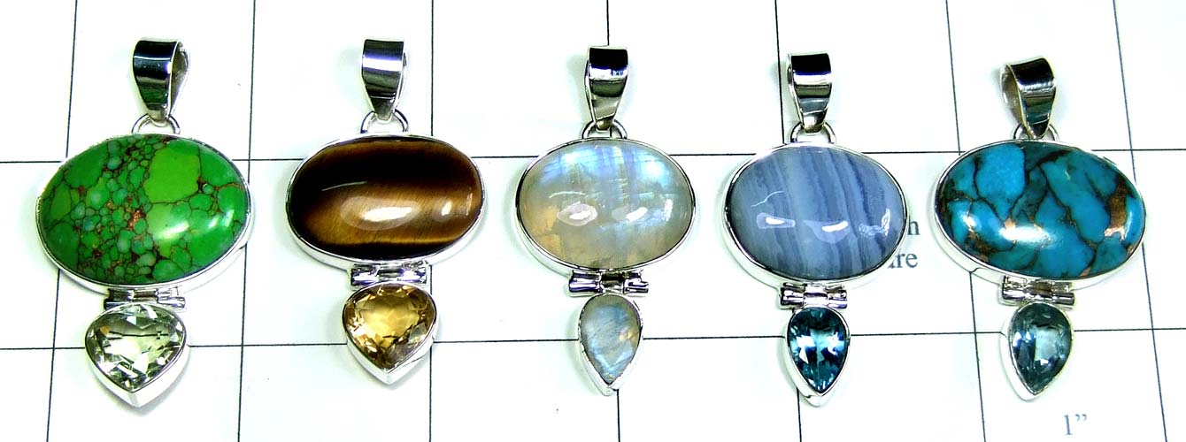 5 Cut Cab Pendants-jyp372