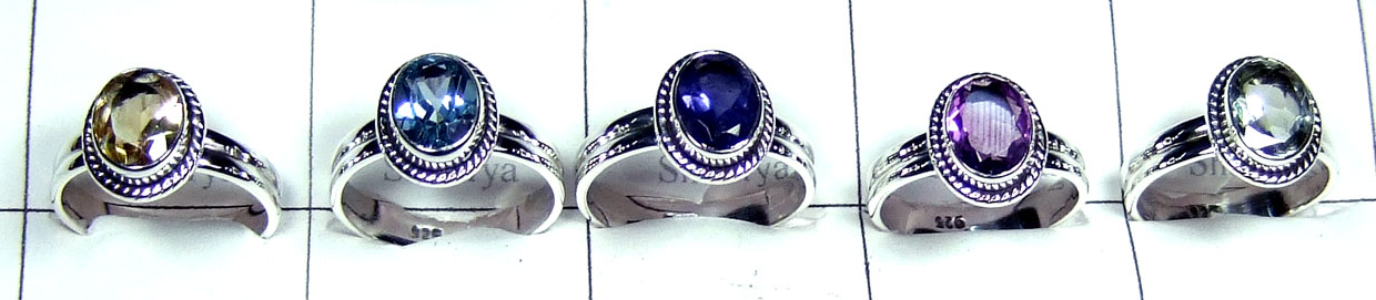 Sterling silver Rings 5 Pcs-jyr130