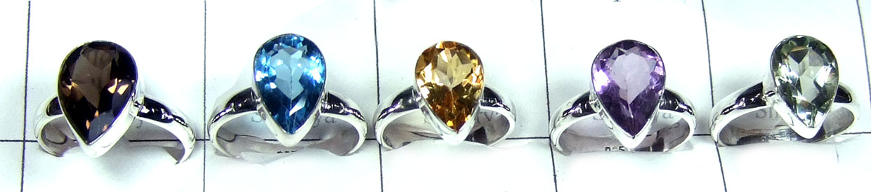 5 Pcs Cut stone Rings-jyr131