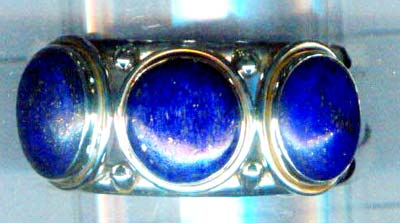 Silver smooth lapis bangle-nscaben003