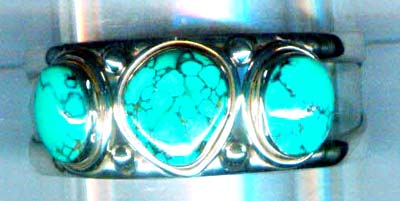Silver turquoise bangle nscsben004