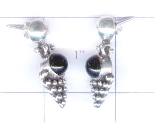Black onyx earrings-ssqassea1002