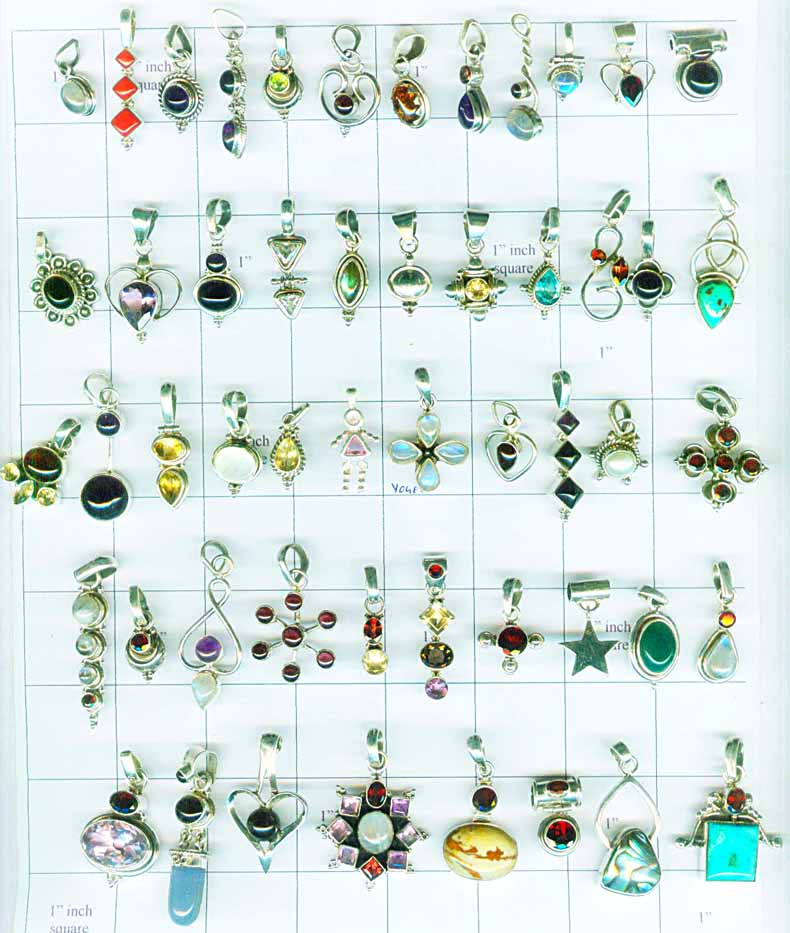 A Wholesale sterling silver pendants 100 pack from India-QWLPENH