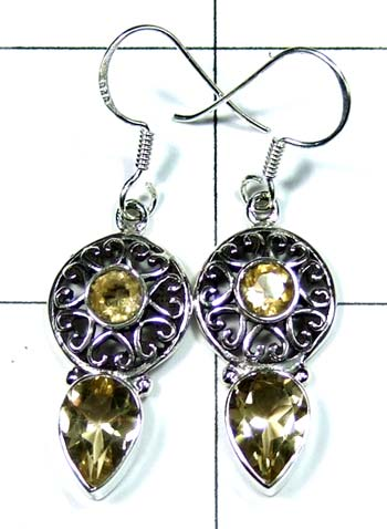 Sterling silver gems Earring-ss4e090