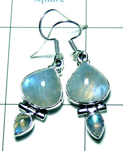 Sterling silver cab Earring-ss4e104