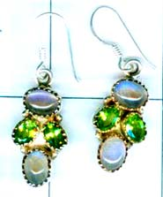 Cabochon silver gems Earring-ss4e107