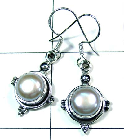 Cabochon silver gems Earring-ss4e112