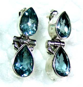 Faceted Silver gems Earring-ss4e117