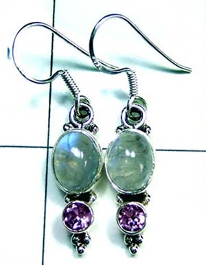 Sterling silver gems Earring-ss4e189