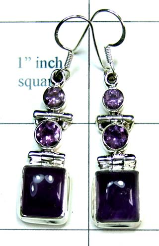Sterling silver gems Earring-ss4e191