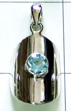 wholesale silver gemstone Pendant-ss4p023